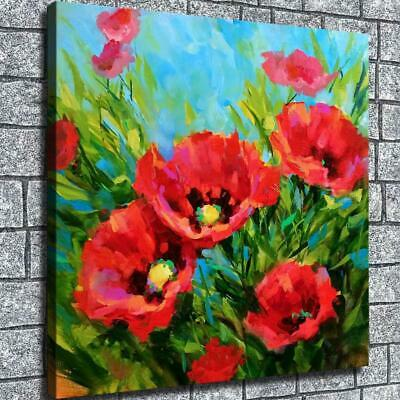 """12""""x12""""Oil painting flower HD Canvas Painting Home Room Decor Picture Wall art"""