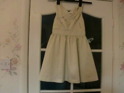 Ted Baker girls party dress Age 8 Years Christmas light gold with gold beading