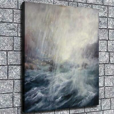 """12""""x14""""Ocean waves HD Canvas print Painting Home Room Decor Picture Wall art"""