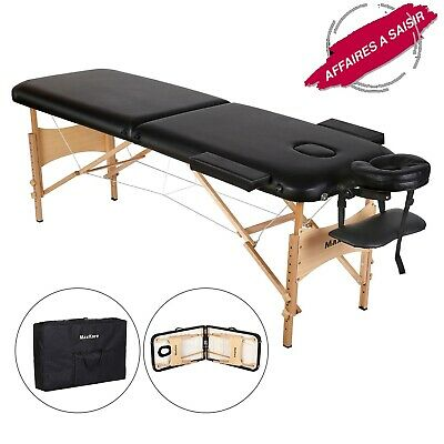 Table de massage Maxkare pliable en bois avec sac de transport