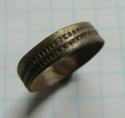 Ancient Celtic Bronze Wedding Ring 100 Bc - 100 Ad Very Rare