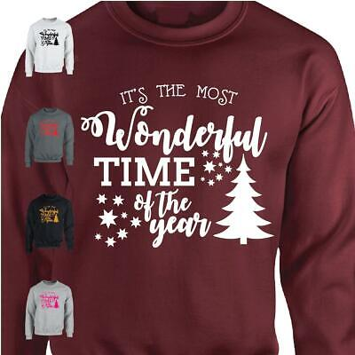 It's The Most WonderFull Time Mens Womens Sweatshirt Christmas Day Xmas Jumper