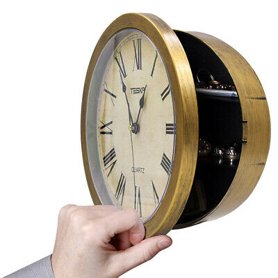 Watch Retro Wall Hanging Jewelry Safety Box Home Office Vintage Clock Storage