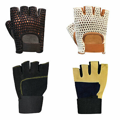 New Weight lifting bodybuilding gym fitness leather gloves slim fit unisex