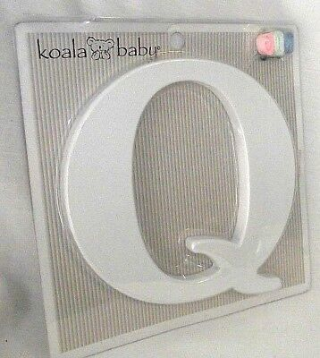 Letter Q Uppercase Koala Baby White Nursery Wall Decor Ribbon Family Kids NEW