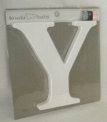Letter Y Uppercase Koala Baby White Nursery Wall Decor Ribbon Boy Girl ID NEW