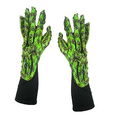 Octopus Tentacles Cthulhu Hands Green Red Sea Adult Halloween Costume Gloves