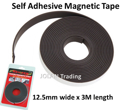 Self Adhesive Magnetic Tape Flexible Craft Sticky Magnet Strip 3M 4546