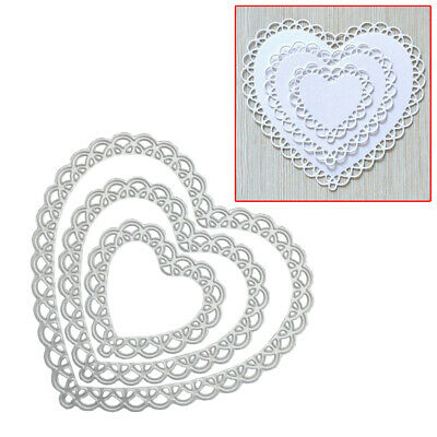 Lace Heart  Metal Cutting Dies Stencil Embossing Die Cuts Stamps Cards Craft DIY