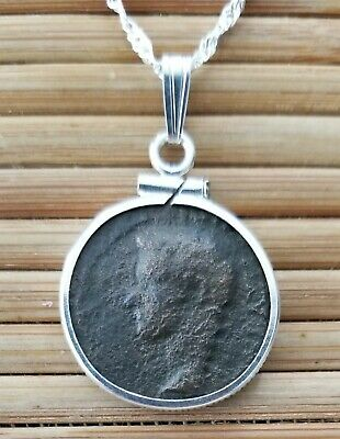 Caligula Authentic Ancient Roman Imperial Bronze Coin 925 Solid Silver Necklace