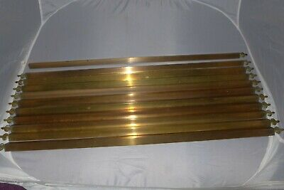 Vintage brass triangular stair rods