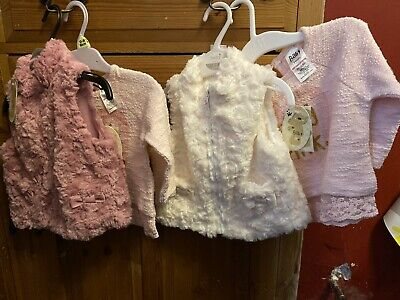 Perfect Twins Girls Xmas Pressie 3-6 Outfit Gillet Top BNWT Twin Peacocks