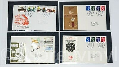 16 x 1974 First Day Covers all pictured in plastic wallets  Superb set of FDC's