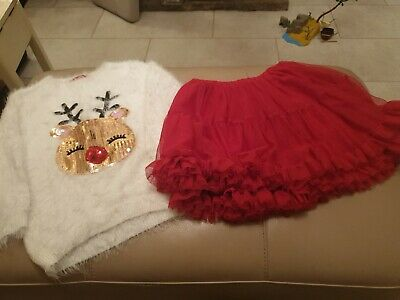 Girls Christmas Outfit Age 6 -7