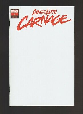 Absolute Carnage #1 NM (2019, Marvel) Blank Cover Variant!
