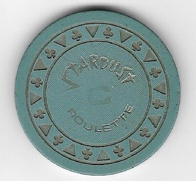 Stardust Hotel Casino Triclb Blue-Grey C Roulette Chip  Las Vegas Nevada