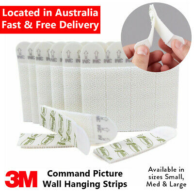 3M Command Picture Wall Hanging Strips SMALL MEDIUM LARGE Poster or Frame Strips