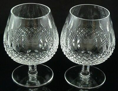 2 COLLEEN WATERFORD Ireland Crystal Large BRANDY SNIFTERS Goblets Glasses