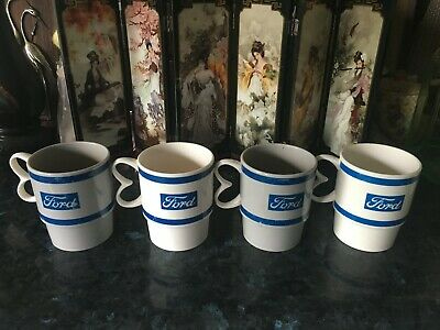 VINTAGE 1960's FORD CAR /  FORD PLASTIC STACKABLE CUPS/MUGS - VERY RARE