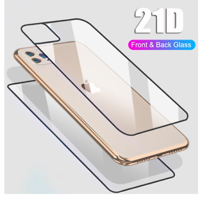 Front+Back Tempered Glass Screen Protector Film for iPhone 11 Pro XS Max X XR