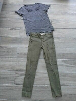 Girls Outfit 9 Years Skinny jeans & T Shirt Inc Next