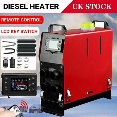 Car 5KW 12V Air Diesel Heater 4 Holes LCD Monitor PLANAR Remote Trucks Boats Bus