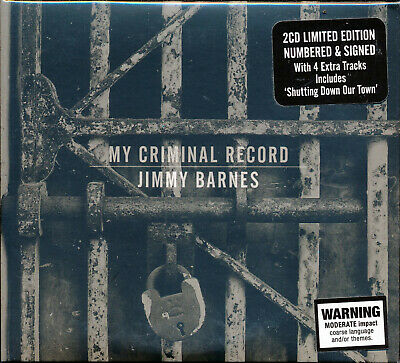 Jimmy Barnes My Criminal Record Deluxe Edition Autographed 2 CD Digipak NEW