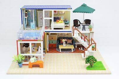DIY Assemble Dollhouse Furniture Kits 'Container Home B' Wooden Miniature Doll H