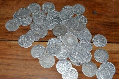 Silver medieval coin from my own collection 1620s x 50 coins LOT 1 Authentic