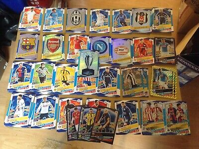 Roughly 144 different champions league 2016-17 season topps match attax cards.