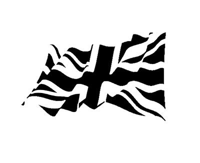 high detail airbrush stencil british flag FREE UK  POSTAGE