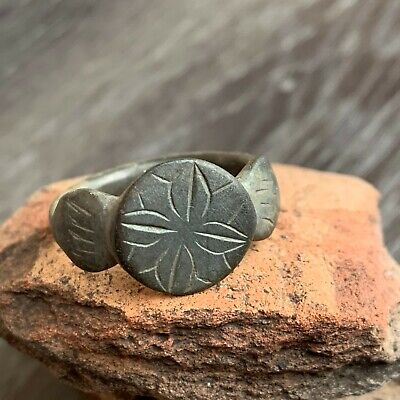 Large Ancient Viking Bronze Ring / Nice green patina