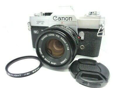 【 Exc++++ 】Canon FT QL 35mm SLR Film Camera w / FD 50mm f1.8 from Japan
