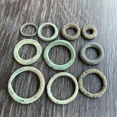 "Lot of 10. Celtic Bronze Rings / ""Proto money"" (Pre-Coins) / 2nd-1st century BC"
