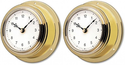 TFA Brass Case Mariner Clock UK POST FREE