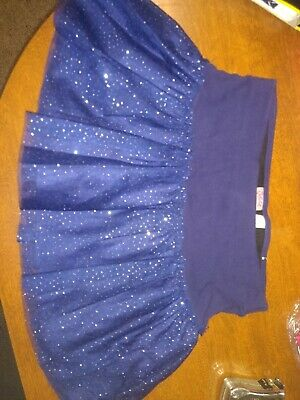 Girls Justice sparkle navy blue  skort Size 12