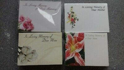 Florist Funeral Cards 4 Packs.