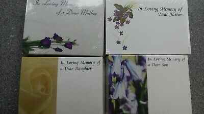 Florist funeral cards 4 packs .