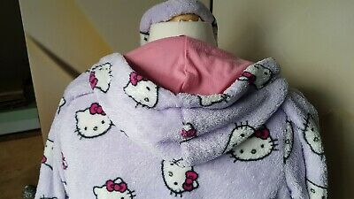 M&S Hello Kitty Lilac, Hooded Dressing Gown - 10 Years