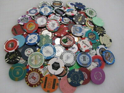 88 Casino Gaming Poker Chip Lot Las Vegas $1 New & Used Chipco Paulson Clay