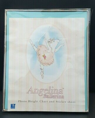 Angelina Ballerina Photo Height Chart and Sticker Sheet