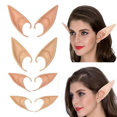 Womens Mens Hobbit Elf Ears Party Cosplay Prop Handmade Earrings Earhook Gift