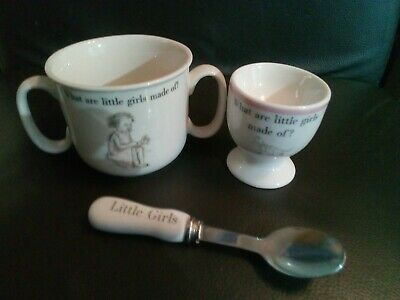 Child's 3 Piece Ceramic Set Cup / Spoon / Egg Cup.