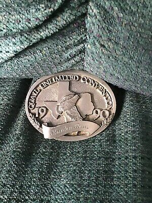 Vintage Quail Unlimited Belt Buckle! Free Shipping!