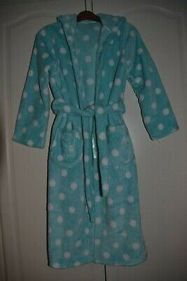 M&S Girls Fleece Spotted Dressing Gown 11-12 Years