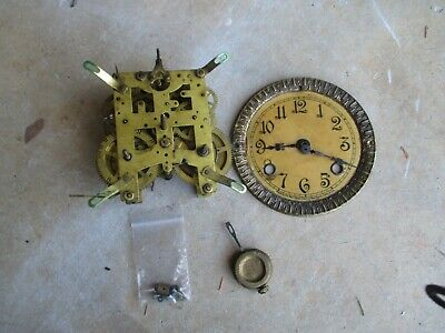ANTIQUE NEW HAVEN Wall/Mantle CLOCK FACE/MOVEMENT PARTS REPAIR