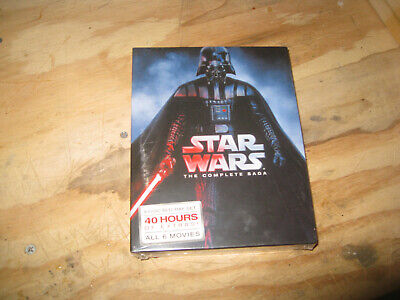Star Wars: The Complete Saga Movie Episodes 1-6 Blu-Ray (9-Disc) FREE SHIPPING