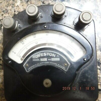VINTAGE Weston Instruments DC Milliamp Meter 3 ranges 0-30, 0-120 & 0-600