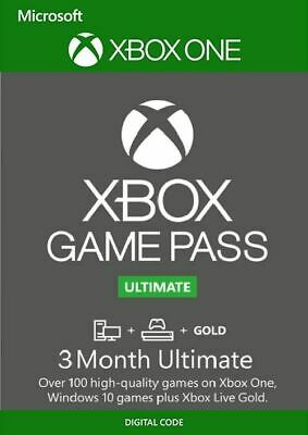 Xbox Game Pass Ultimate 3 Month - Xbox Live Gold + Game pass (No.Code)