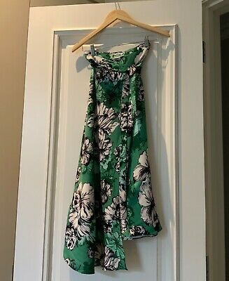 scanlan theodore S18 size 8 amazon floral skirt 100% polyester new without tags
